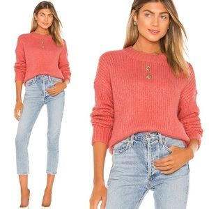NWT Sanctuary Coral Pink Telluride Knit Sweater
